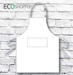 Full-Bib Apron White P,AN