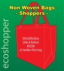 x 100 Non Woven Bags Red