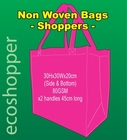 x 100 Non Woven Bags Hot Pink