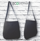 Blank 100% Cotton Black Sling Shoulder Bag