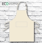 Full-Bib Apron Natural Calico 100% Cotton Drill